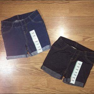 Cat & Jack Bundle of 2 denim shorts 18 months